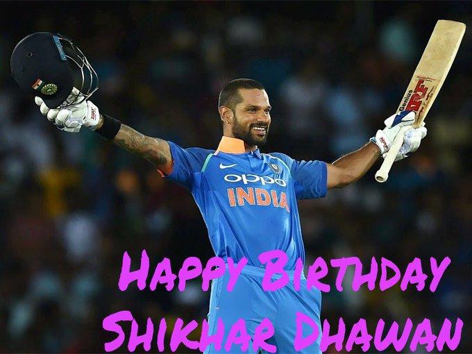 Happy Birthday Shikhar Dhawan...