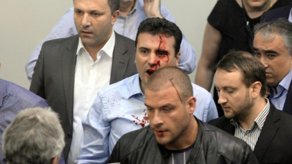 6 Macedonia MPs held in parliament attack probe