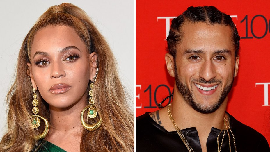 .@Beyonce surprises @Kaepernick7 to present him with Muhammed Ali Legacy Award