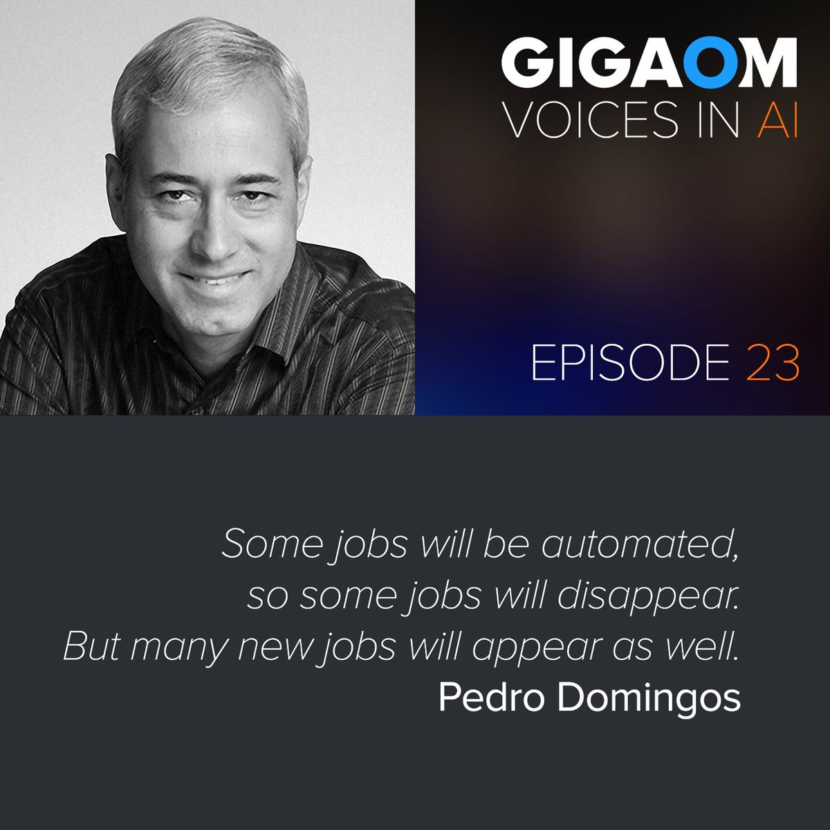 test Twitter Media - RT @VoicesinAI: Pedro Domingos talks w/@byronreese about #artificialintelligence #consciousness the #masteralgorithm and #machinecreativity on this #AI podcast by @Gigaom - @pmddomingos https://t.co/YOm4iowXeW…h-pedro-domingos/ https://t.co/Xusxi8lsPg