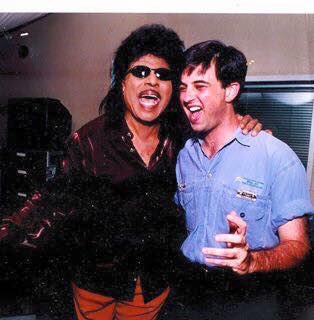Happy 85th Birthday to my pal Little Richard. Here we are when we were both younger and prettier.