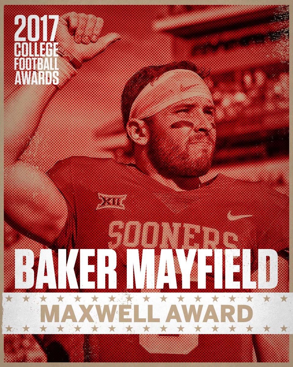 Baker Mayfield had a decent we maxwell award