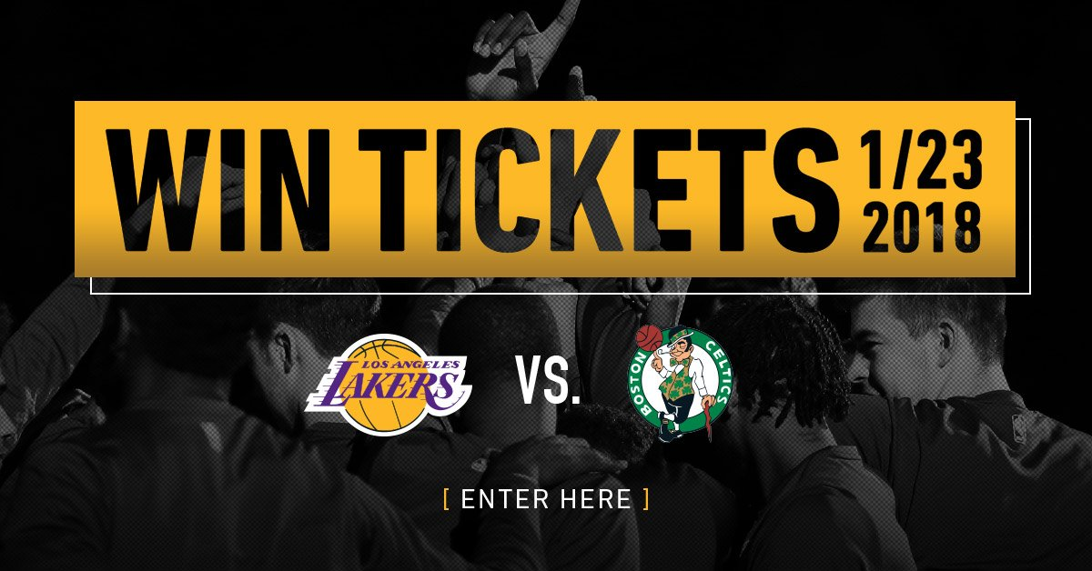 Enter for your chance to win tickets to see the Lakers take on the Celtics on January 23rd: https://t.co/vZbr05kcf4 https://t.co/QgqXCZc32I