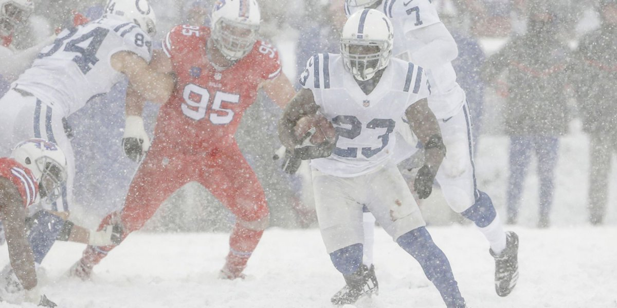Colts lose 13-7 in overtime but it was a heckuva snow, err, show