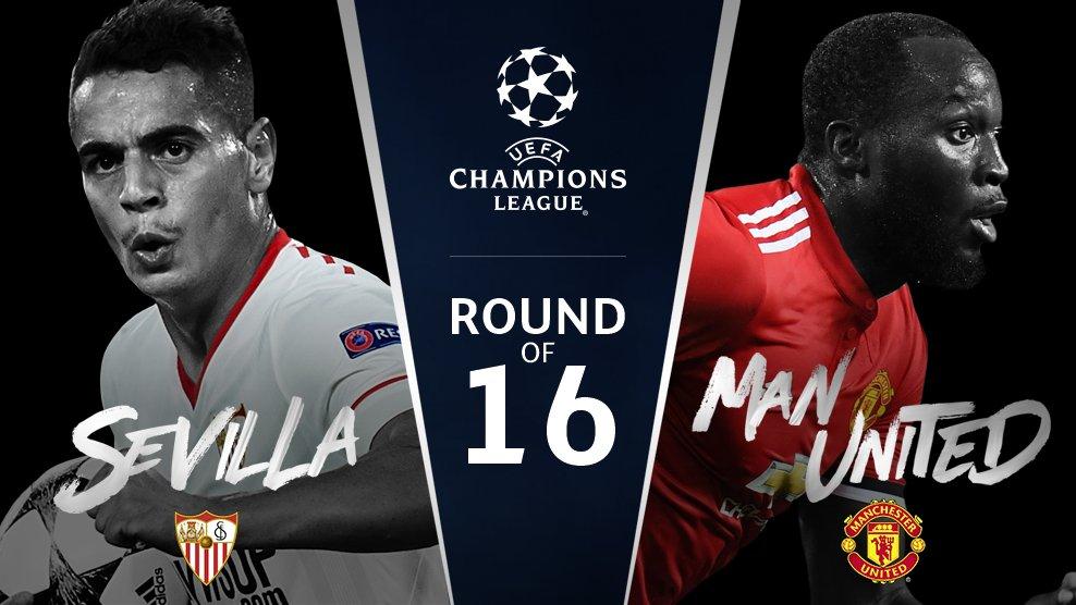 RT @ChampionsLeague: Sevilla v Man. United  #UCLdraw https://t.co/Ob01xyRa4G