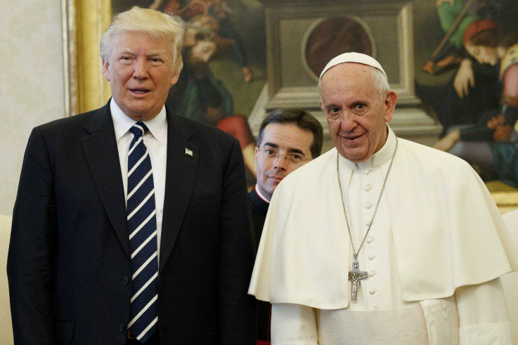 Pope Francis Christmas message takes aim at Trump over Jerusalem move, immigration