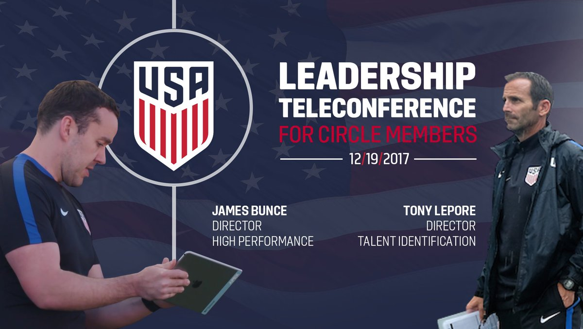 U.S. Soccer Development Fund Circle members have exclusive access to next week's Leadership Teleconference. Join today » https://t.co/ElUesfLdJl https://t.co/TPDQrAKPAw