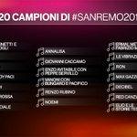 RT : ⭐️ I 20 BIG di #Sanremo2018 ⭐️ #Sa...