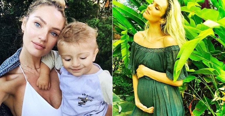 Candice Swanepoel. Foto do site da Caras Brasil que mostra Candice Swanepoel está grávida de seu segundo filho. Saiba mais