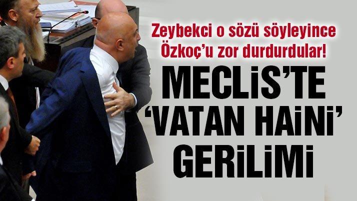 CHP'li vekili zor durdurdular… Meclis'te 'vatan haini' ve 'alçak' kavgası