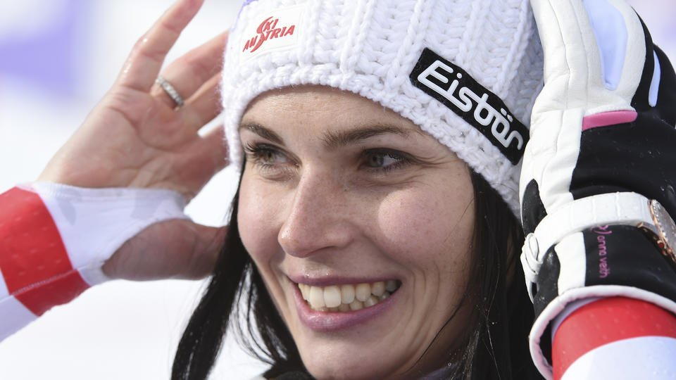 Relief for Veith as she returns to winning ways in super-G