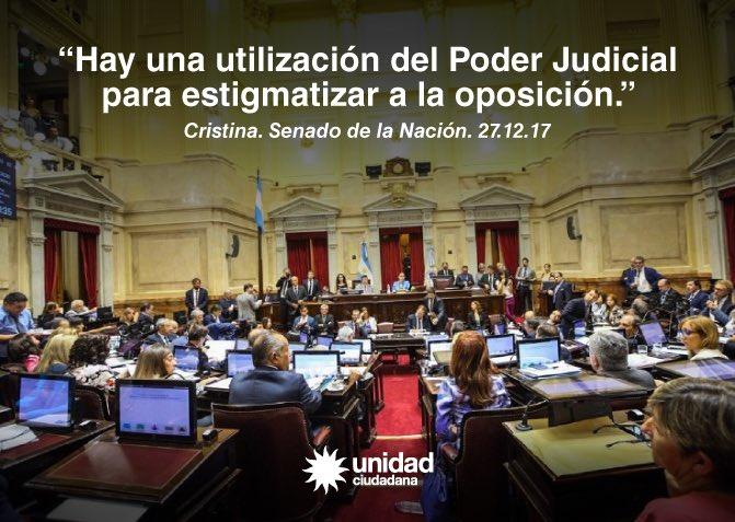 Hay una utilización del Poder Judicial para estigmatizar a la oposición. #Lawfare https://t.co/iV8cPuYcfy