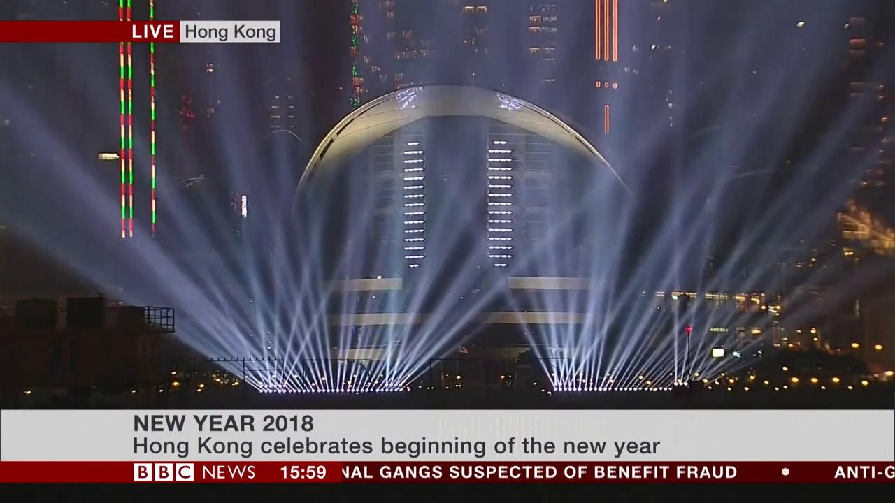 #Fireworks over Hong Kong's historic Victoria Harbour for the start of 2018  #HappyNewYear https://t.co/PeHO3E2ZR4