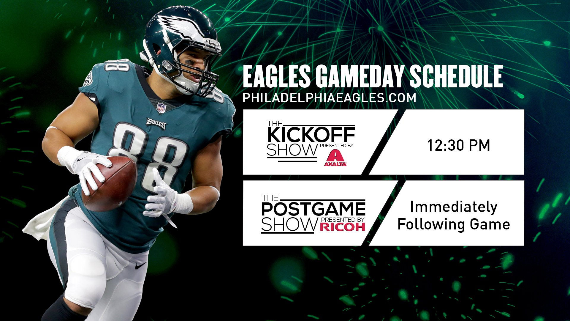 Today's #DALvsPHI Gameday schedule.  #FlyEaglesFly https://t.co/jk2qyS6vXs