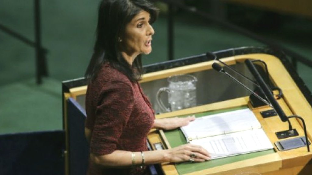 US envoy Nikki Haley calls for urgent UN meeting on Iran protests