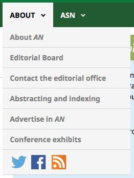 If you want to use regular RSS feeds, the link is at the bottom of the About AN menu. on the journal webpages https://t.co/sEoZqv72d3