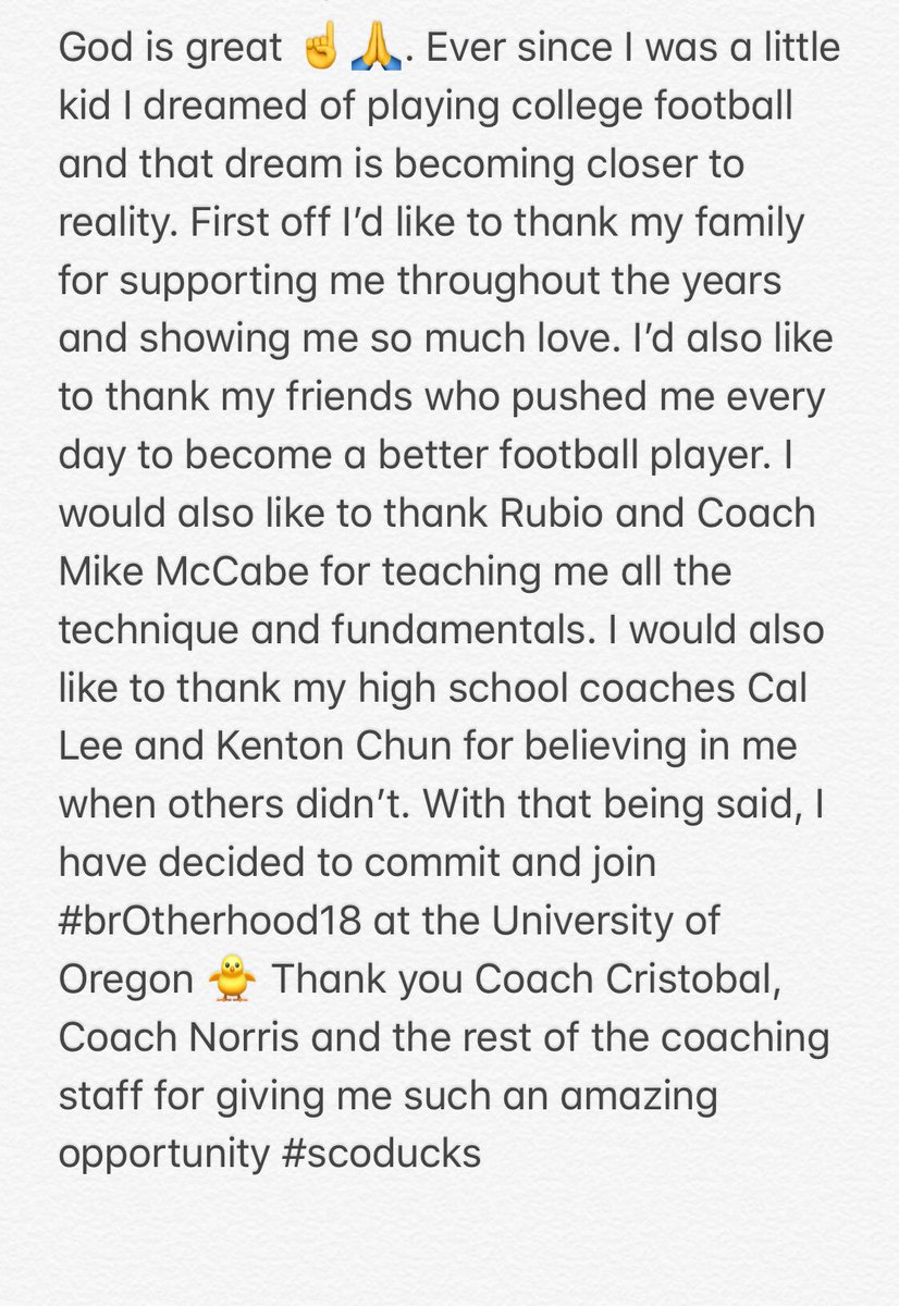 RT @peyt_yanagzz: Blessed to announce that I have committed to the University of Oregon #brOtherhood18 #scoducks https://t.co/yIDWxpSWYU