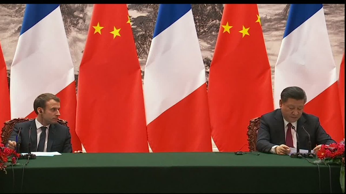 """?? Xi Jinping: """"China and France have agreed to reinforce our cooperation in every domain"""""""
