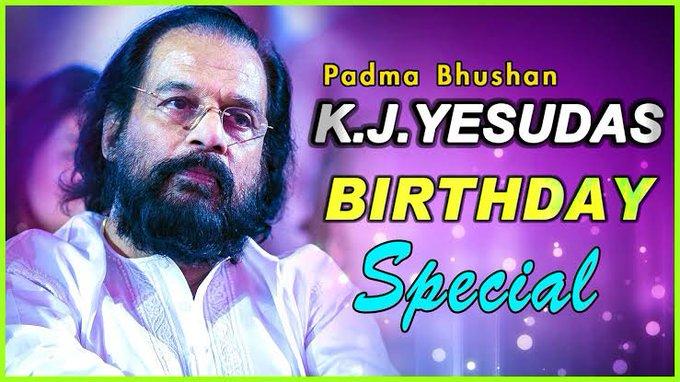 Happy birthday to you K J. Yesudas