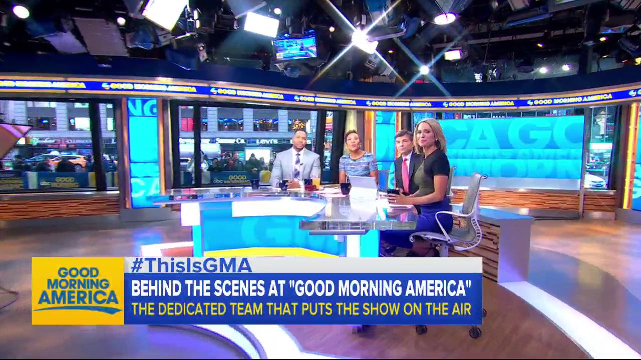 Here's a sneak peak at how @RobinRoberts and @michaelstrahan get ready before the show each morning! #ThisIsGMA https://t.co/nIAwjW13Gj