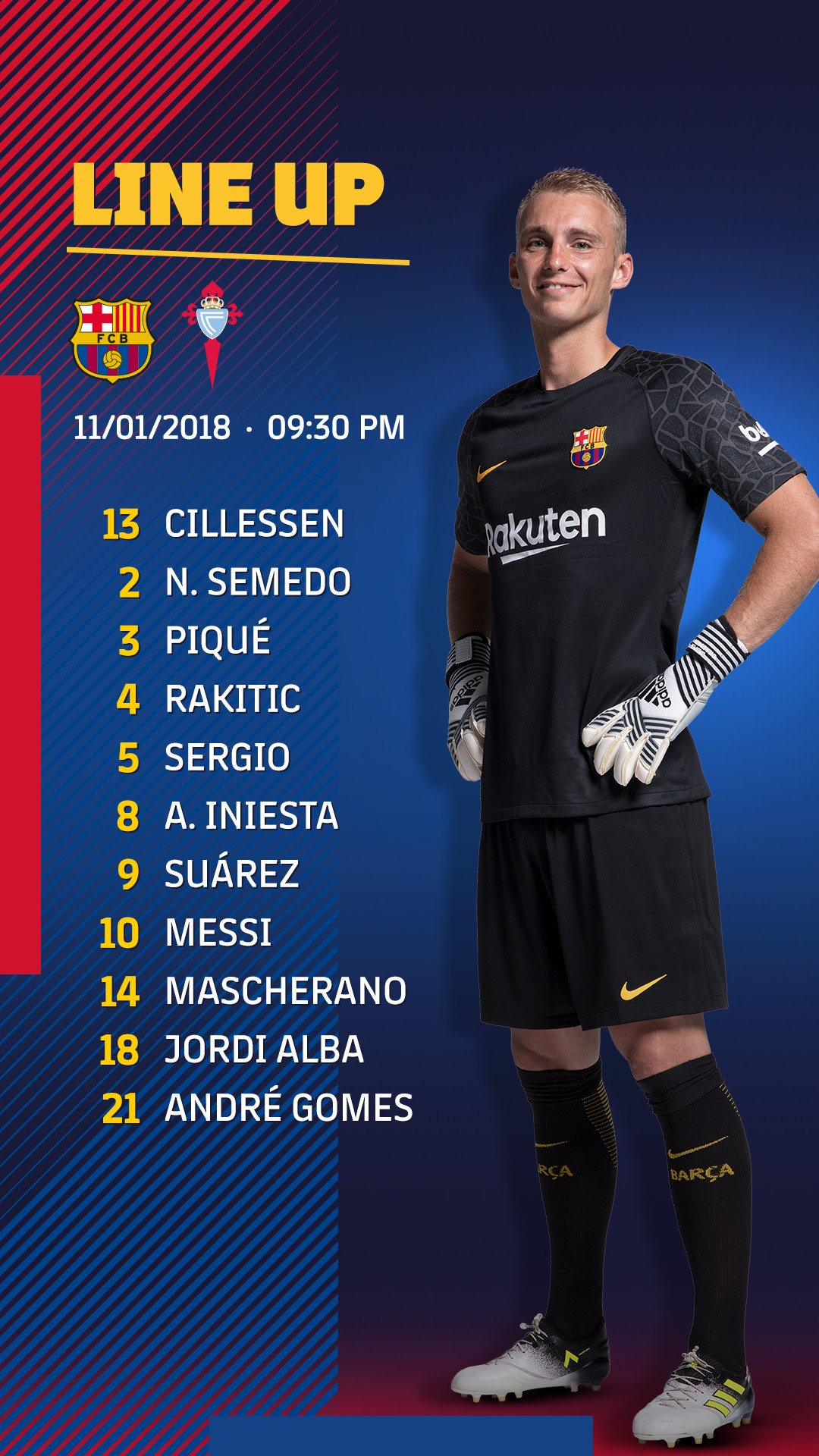 ���� Barça XI FC Barcelona v Celta #CopaBarça https://t.co/nN87IBJrQn