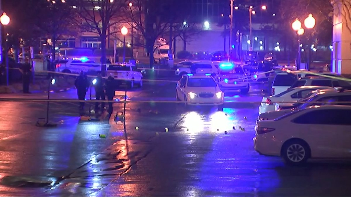 Homicide suspect shot, killed outside police headquarters