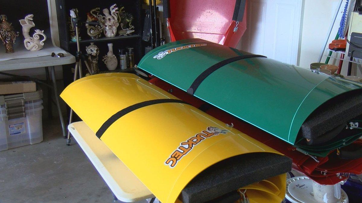 Local entrepreneur creates foldable, portable kayaks