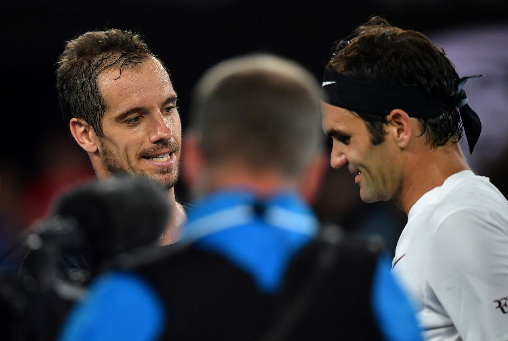 Right now on @BBCTwo's #AusOpen highlights...  Federer v Gasquet ��  Watch: https://t.co/TH2TJ4zfHY https://t.co/J45uwS5Iio