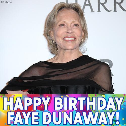 Happy Birthday to Chinatown and Network star Faye Dunaway!