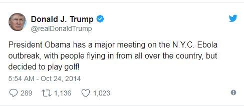 While #Hawaii panicked, @realDonaldTrump played golf. But wait! #TheresATweetForThis https://t.co/8TGkxixREh