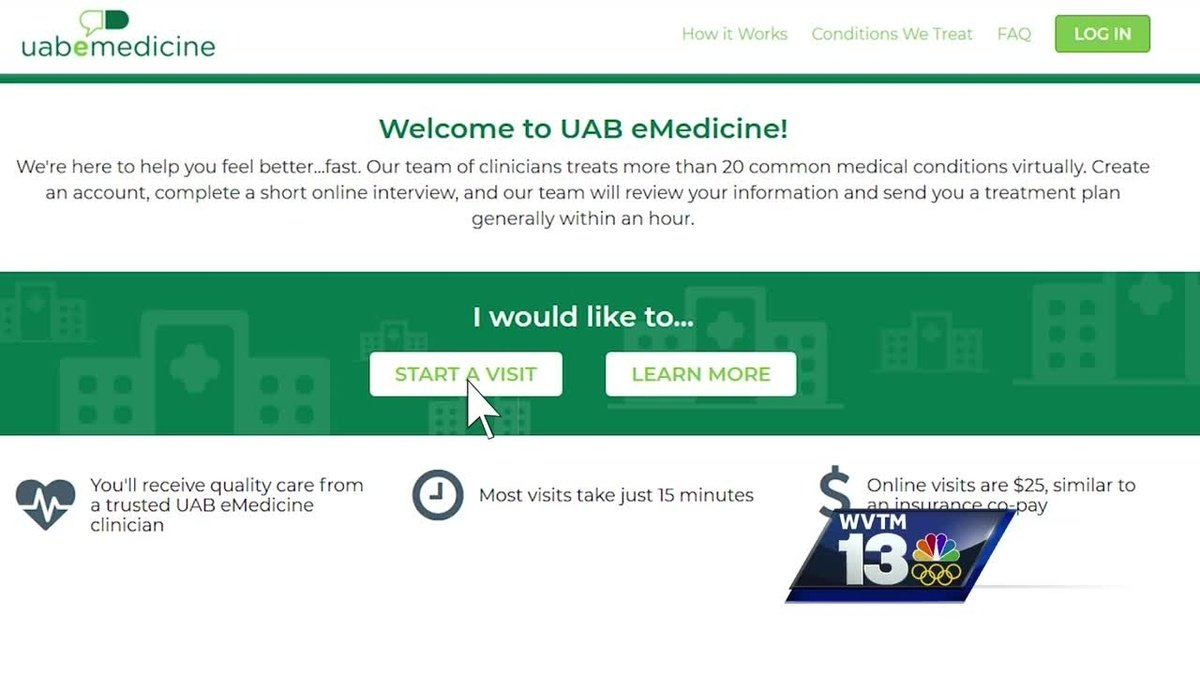 UAB eMedicine offers online flu diagnosis and treatment