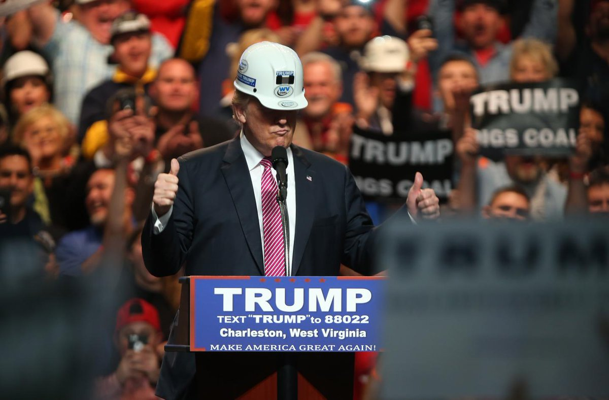 """Trump says the """"war on beautiful, clean coal is over,"""" but 17 plants closed last year"""