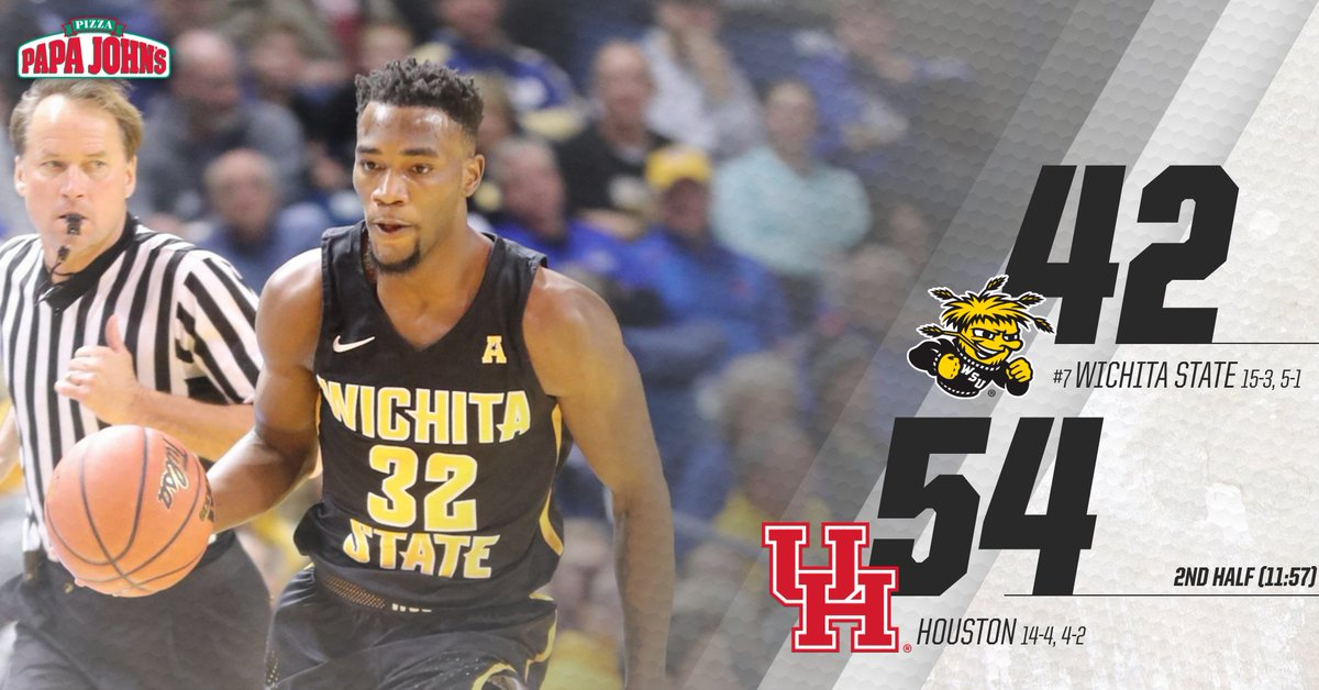Shockers still struggling on both ends of the floor in Houston. #watchus https://t.co/lyCnPuka1K