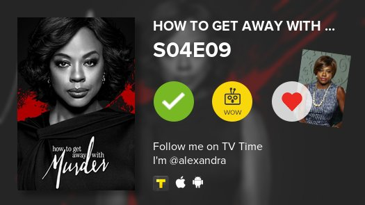 I've just watched episode S04E09 of How to Get Away ...! #HTGAWM  #tvtime https://t.co/Ft3rFu7zHR https://t.co/9w7r855h3k