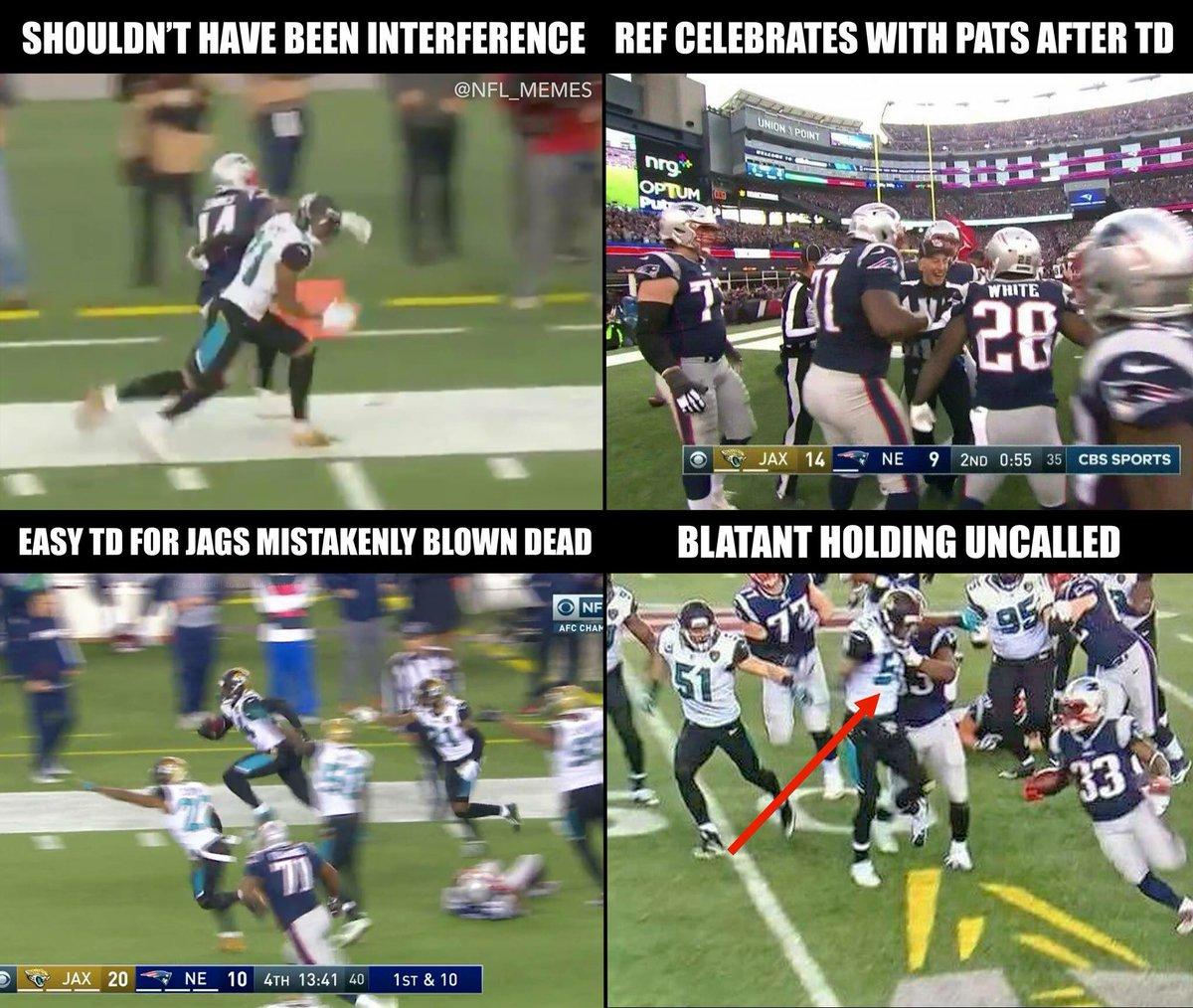RT @NFL_Memes: Jaguars get robbed? https://t.co/oRm30K1IFx