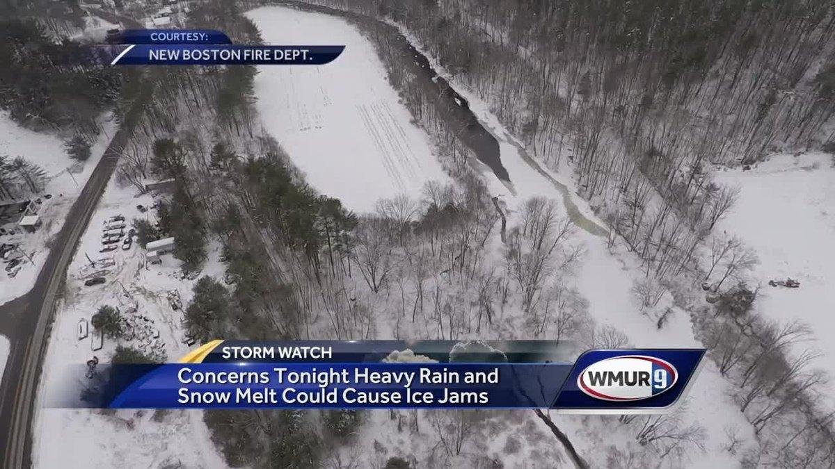 Heavy rain, snow melt could cause ice jams
