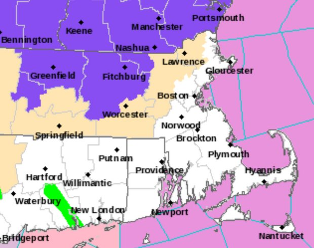 Freezing rain, wintry mix predicted in parts of Massachusetts