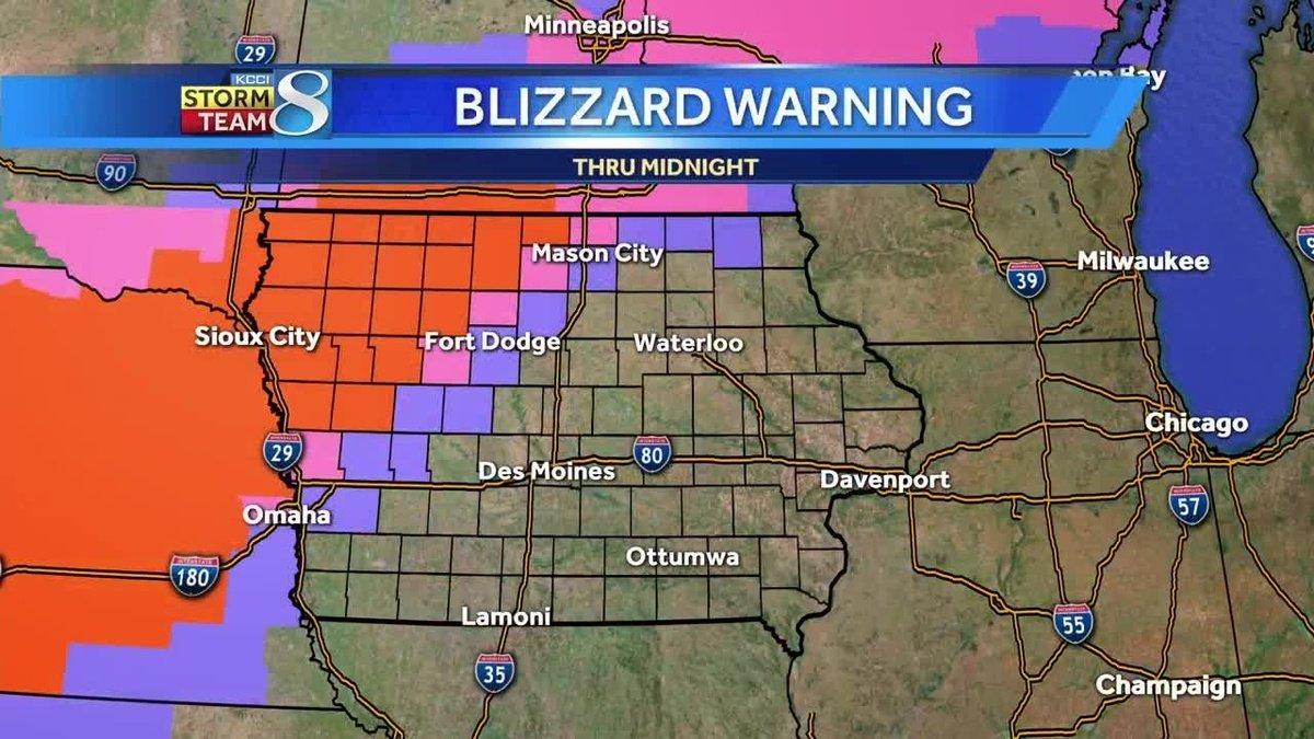 Winter weather impacting Iowa