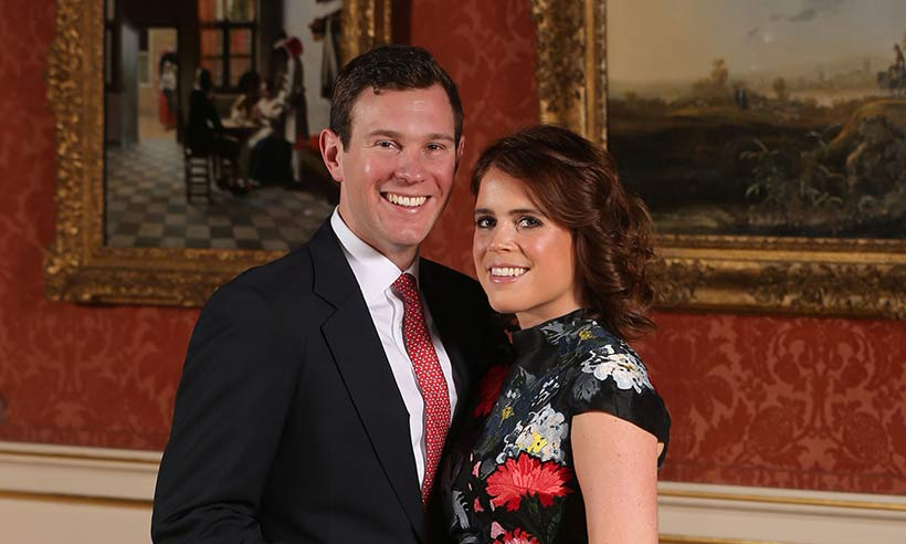 Princess Eugenie stuns in engagement shot wearing Erdem dress and Jimmy Choo shoes