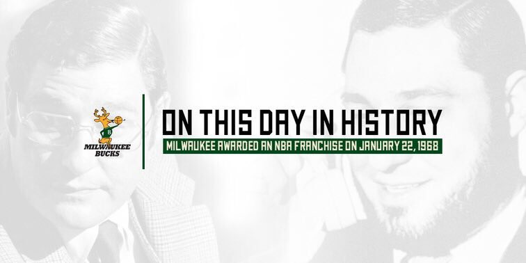 On this date in 1968, Milwaukee was awarded an @NBA Franchise » https://t.co/V6i2jp4Zod https://t.co/U8Vzm6Lv41
