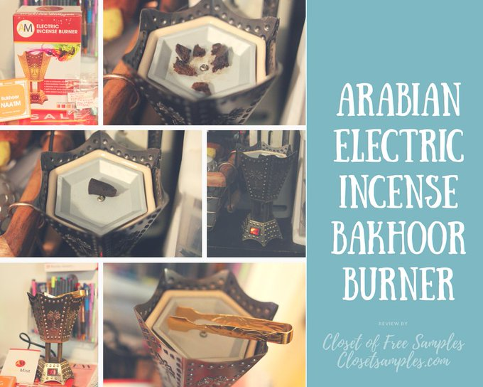GIVEAWAY: Arabian Electric Incense Bakhoor Burner #Review