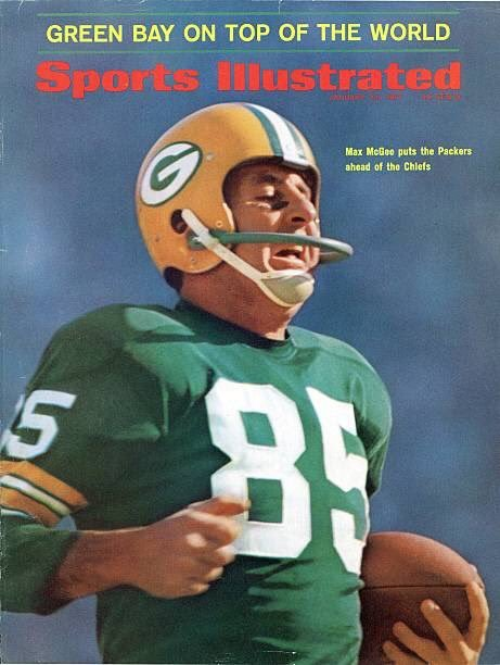 On cover of SI on this day in 1967: Packers backup WR Max McGee, who was so sure he wouldn't play in Super Bowl I, he stayed out all night & came to the stadium with a hangover. Was put in & scored 2 TD's. Post career: Co-founded Mexican chain Chi-Chi's,… https://t.co/nQIN5ICiWL https://t.co/PlZYLcYdcO