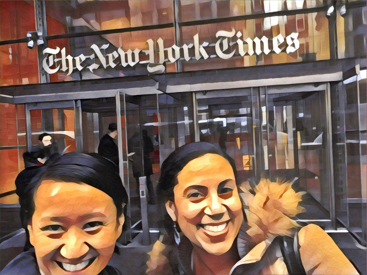 Stopped by @nytimes next door with @ncofield. #EJ18 https://t.co/HVJwx3HGED