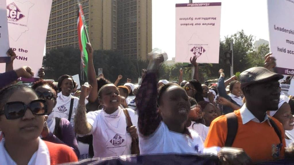 EYE ON AFRICA - Women protest alleged rapes at Nairobi hospital
