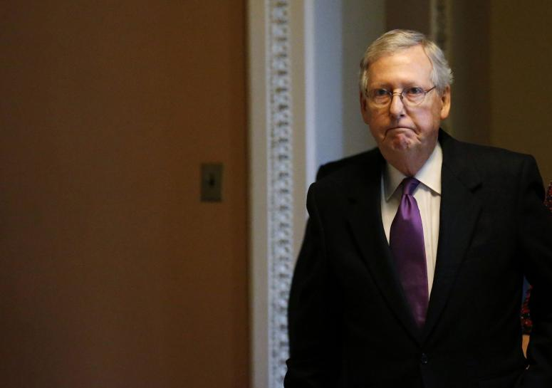Republican McConnell 'optimistic' on immigration, spending talks