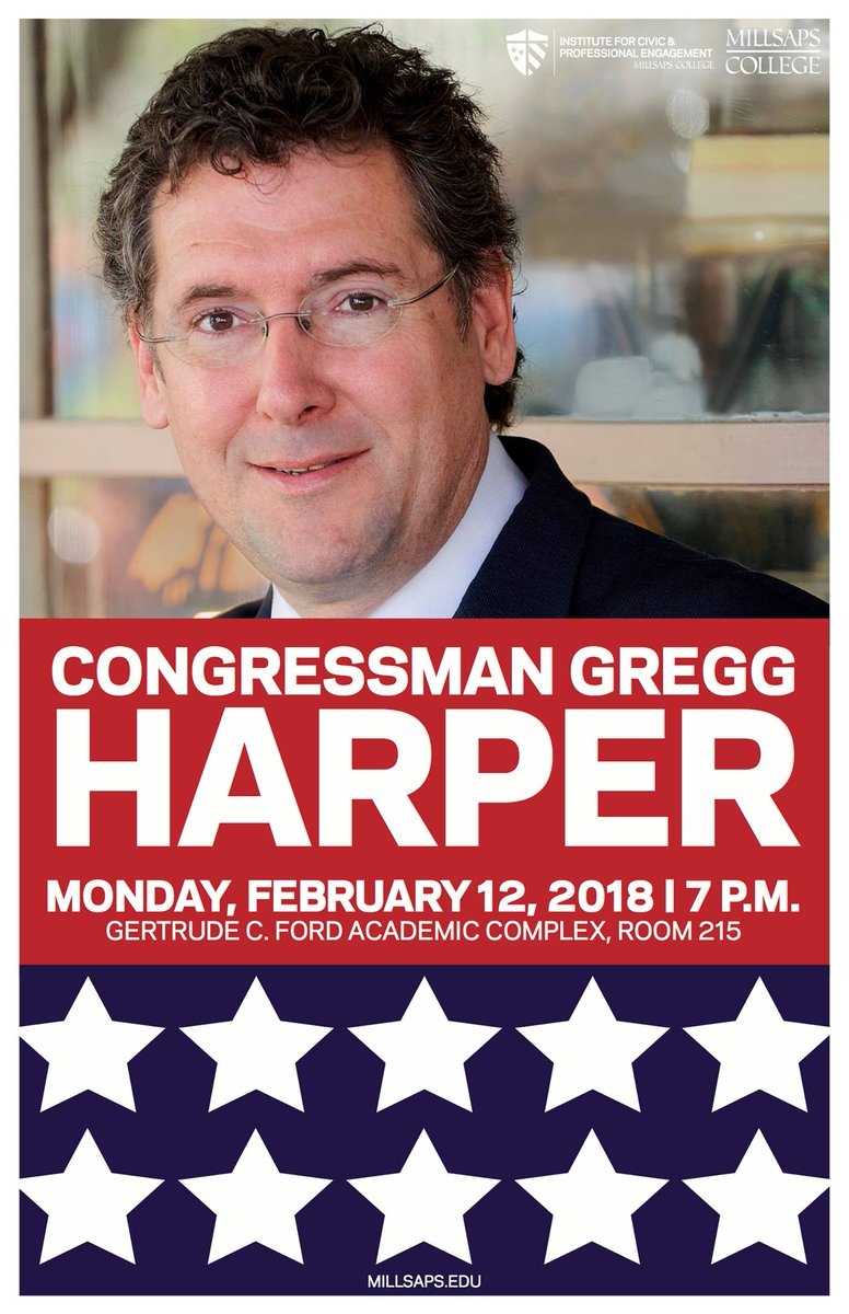 RT @millsapscollege: Tonight: Congressman @GreggHarper speaks at Millsaps College. Free and open to the public. https://t.co/aIomRX5ypm