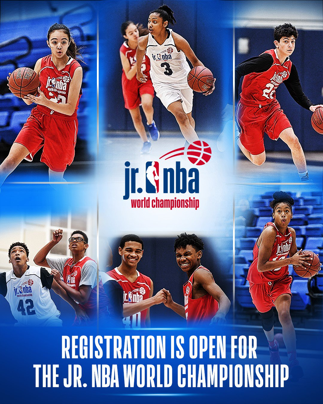 Get ready! It's time to register your team for the first-ever #JrNBAWorldChampionship!   https://t.co/25TgpJcTzO https://t.co/e98AW6PgSL