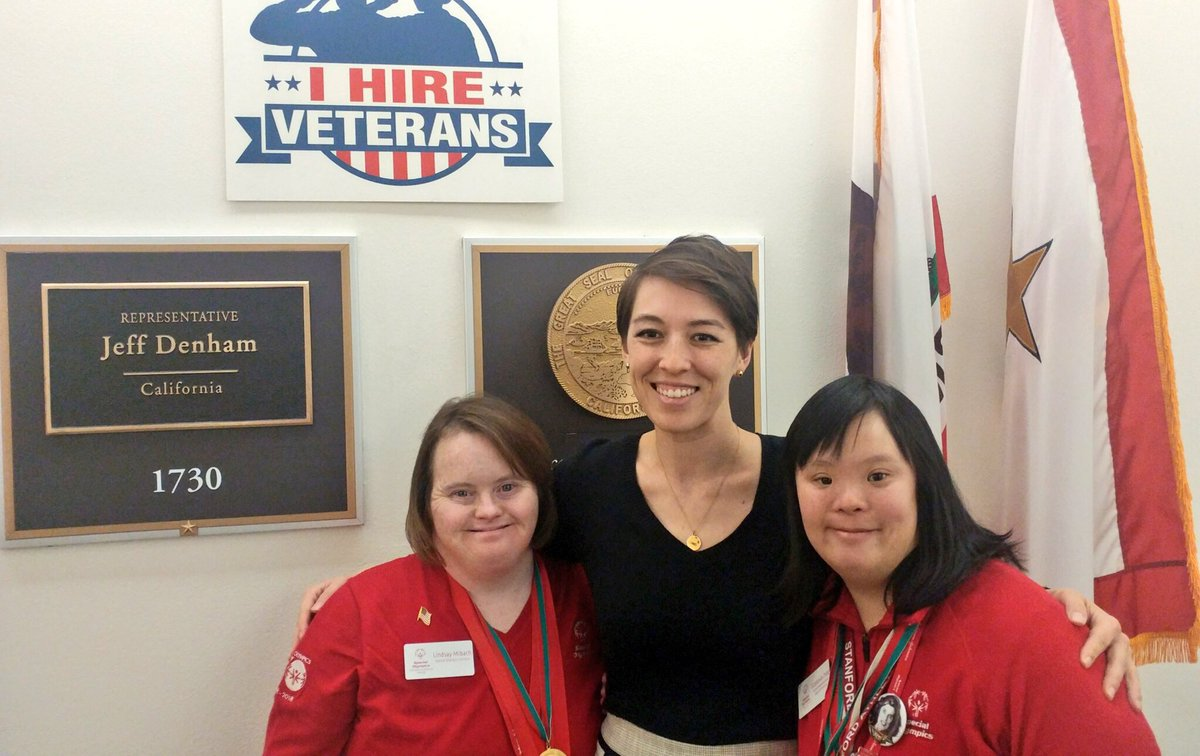 We wrapped up our #SOHillDay meetings with Tracey Chow from the office of @JeffDenham. Thank you for welcoming our athletes & hearing their message about @SpecialOlympics! https://t.co/SwOGyCCkdp