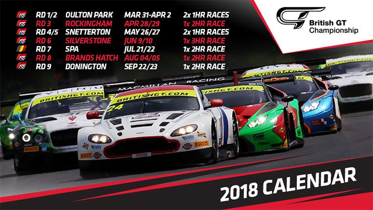 With the @BritishGT Media Day just over a month away on the 8th March at @DoningtonParkUK, here's mine and @Ben_Green22's race calendar for this year. Super excited for my two favourite tracks Oulton Park and Spa!! #TeamBTR