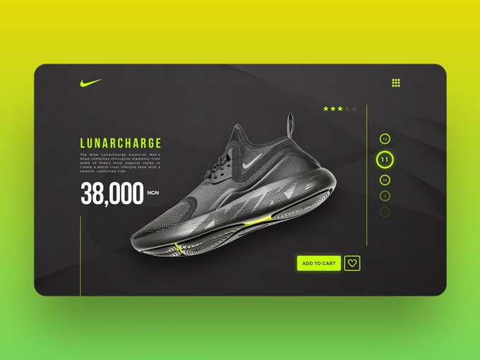 Nike LunarCharge Checkout Page by Jetrotaiwo freebie
